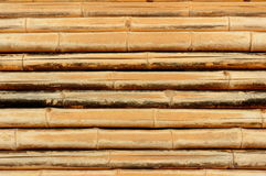 The old bamboo Background. The old horizontal bamboo Background Royalty Free Stock Photo