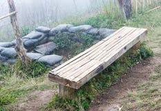 Old bamboo bench. Stock Photos