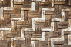 Old bamboo craft texture Stock Image