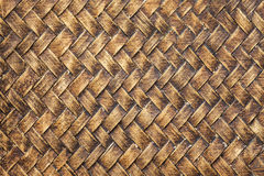 Old bamboo craft texture Royalty Free Stock Photography