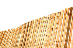 Old bamboo fence. Over white background Royalty Free Stock Photo