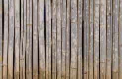 Old bamboo fence for background Royalty Free Stock Photos