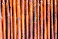 Old bamboo fence background / Bamboo fence background texture.  Royalty Free Stock Images