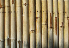 Old bamboo fence background texture. Royalty Free Stock Photography