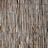 Old bamboo fence Stock Photo