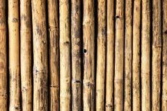 Old bamboo fence texture with natural patterns. For background Stock Photos