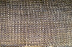 Old bamboo mat texture. On old chairs royalty free stock photo