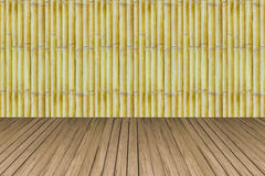 Old bamboo with pine crate background texture Royalty Free Stock Image