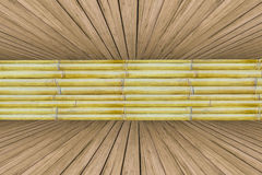 Old bamboo with pine wood crate background Royalty Free Stock Photography