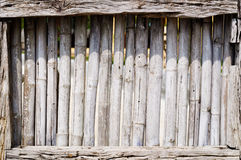Old bamboo. Is pipe fence Stock Photo