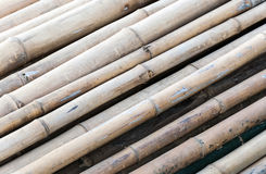 Old bamboo raft Royalty Free Stock Photography