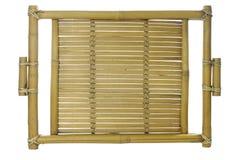 Old bamboo tray Stock Photos