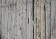 The old bamboo wall Royalty Free Stock Photos