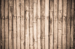 The old bamboo wall Royalty Free Stock Photography