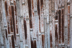 Old bamboo wall Stock Images