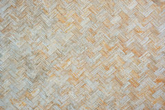 Old bamboo wall wooden weave background. Royalty Free Stock Image