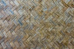 The old bamboo weave Stock Photos