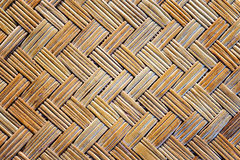 Old bamboo weave mat texture. And background Royalty Free Stock Photography