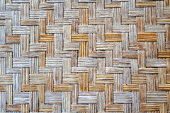 Old bamboo weave mat texture. And background Royalty Free Stock Image