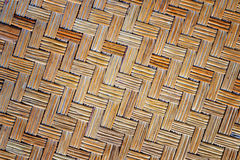 Old bamboo weave mat texture. And background Stock Photography