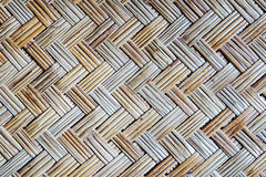 Old bamboo weave mat texture. And background Stock Image