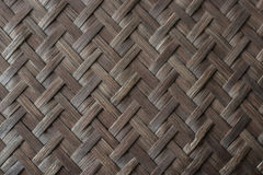 Old bamboo weave texture background Stock Photo