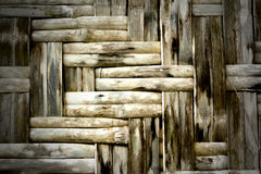 Old bamboo weave texture. Thai handmade of bamboo weave texture background Stock Photos