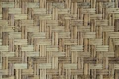 Old Bamboo weave wall. Texture background Royalty Free Stock Image