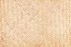Old bamboo weaving pattern, woven rattan mat texture for background stock photography