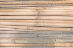 Old bamboo wood. Old bamboo wood brown color, background and texture stock images