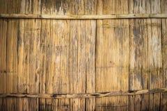 Old bamboo wood sheet wall Royalty Free Stock Photo