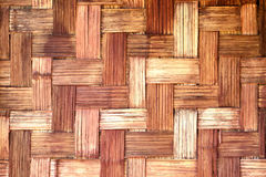 Old bamboo wooden weave pattern background. Royalty Free Stock Images