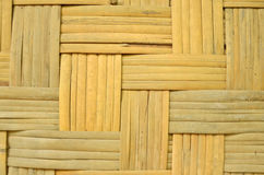 Old bamboo woven texture of wall Stock Images