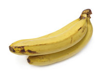 Old bananas. Isolated over white background royalty free stock photography
