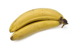 Old bananas. Isolated over white background Royalty Free Stock Photos