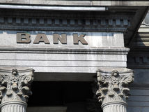 Old bank building Stock Image