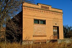 Old Bank Building is Deserted Royalty Free Stock Photos