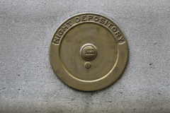 An old bank night depository cover Stock Image