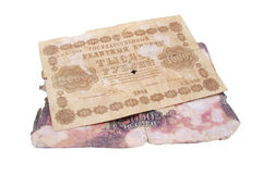 Old bank notes Stock Images
