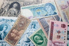 Old bank notes Royalty Free Stock Image