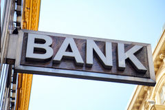 Free Old Bank Sign Royalty Free Stock Image - 84467826
