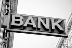 Old Bank Sign Royalty Free Stock Photography