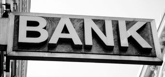 Old Bank Sign Royalty Free Stock Images