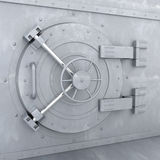 Old Bank Vault. 3d illustration Stock Photography