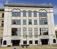 Old Bank in Victoria Canada Stock Photo