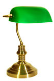 Old banker style lamp. With white background Royalty Free Stock Image