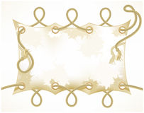 Old banner with a rope Royalty Free Stock Photography