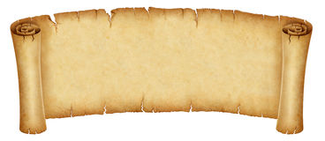 Old banner scroll Stock Photo