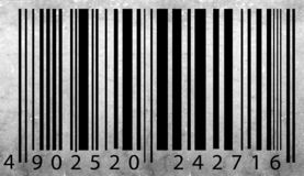 Old bar code label Royalty Free Stock Photography
