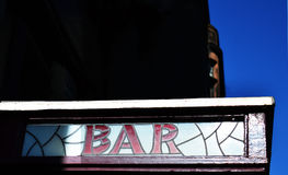 Old bar sign, Dundee, Scotland Royalty Free Stock Photo